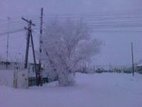 Обручёвка зимой