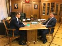Вице-премьер Алексей Гордеев и губернатор Алексей Текслер обсудили реализацию национальных проектов в Челябинской области